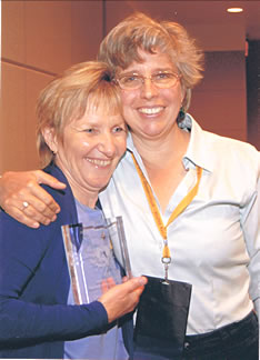 Carole Osborne - 2008  AMTA National Teacher of the Year with Ruth Werner, author of A Massage Therapist's Guide to Pathology, and 2005 Teacher of the Year